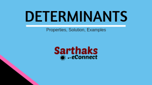 Detertminants determinant