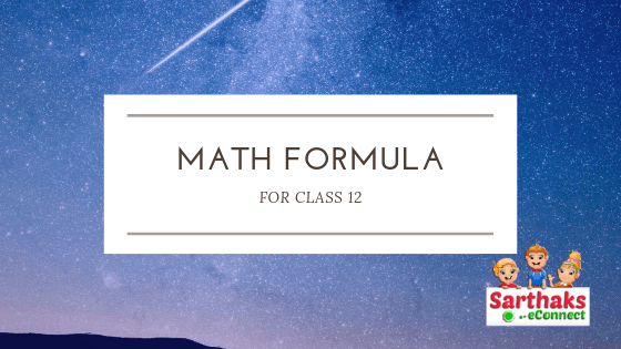 math formula for class 12