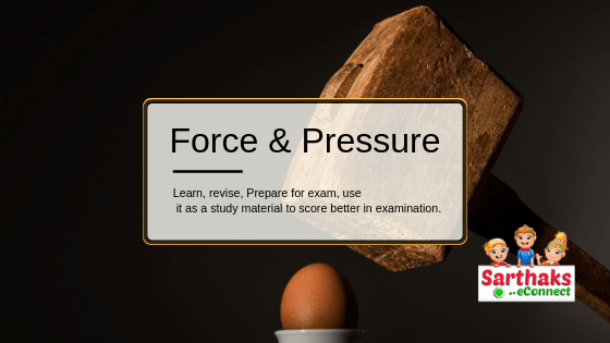 force and pressure notes for class 8