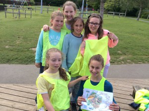 The girls' shad to use teamwork and orienteering skills to find clues all around Little Canada.  There was some excellent map work that even Bear Grylls would have been proud of!