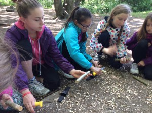 The girls learnt a few survival skills along the way...they will be be able to give Catniss a run for her money.