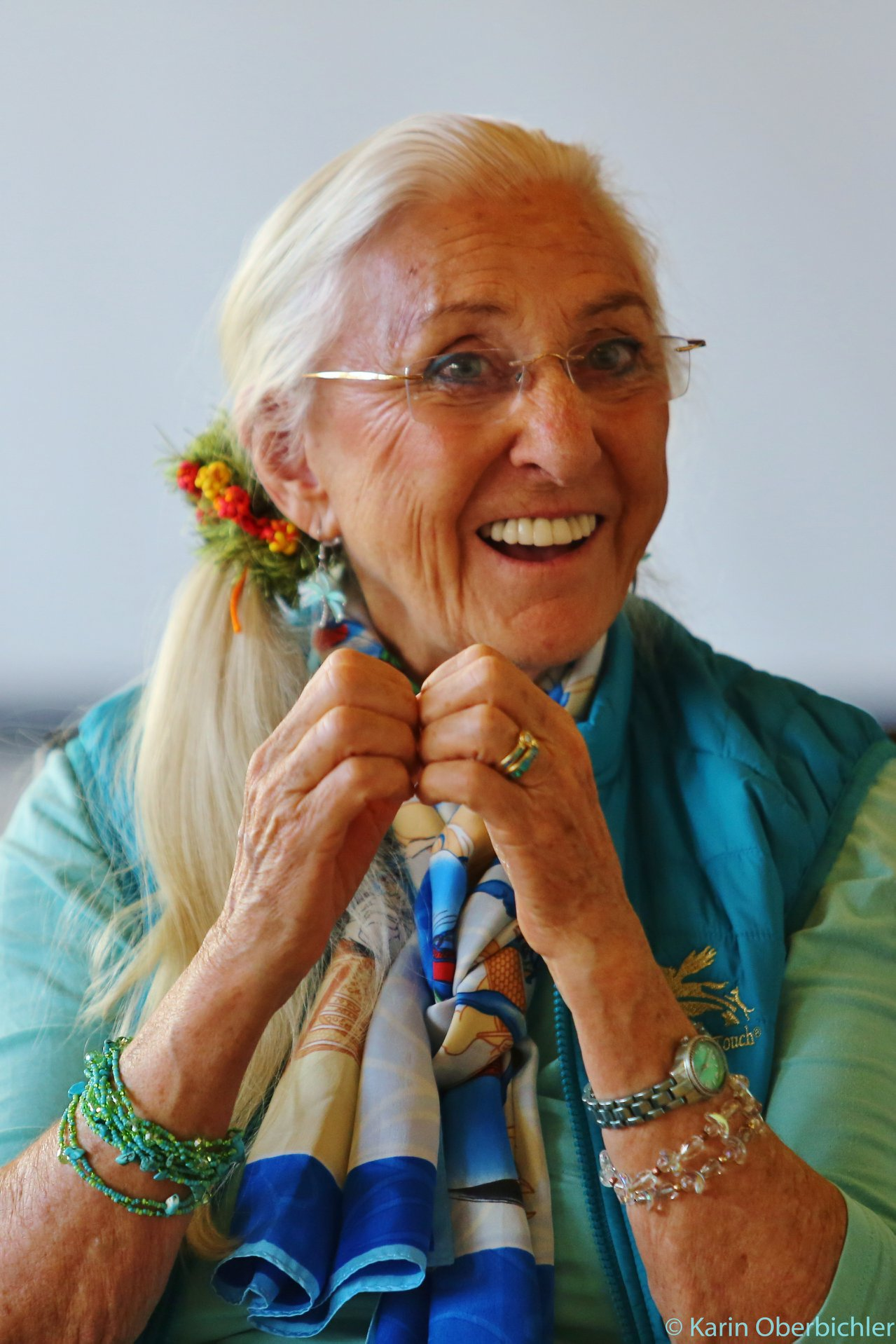 Linda tellington jones exudes joy