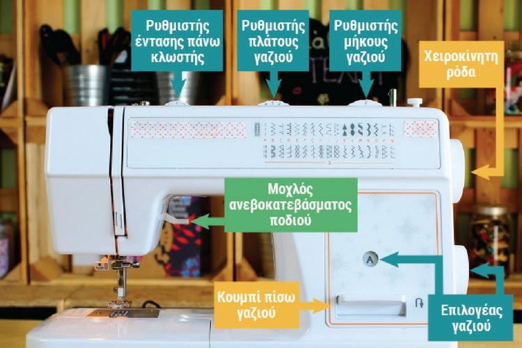 ανατομία ραπτομηχανής