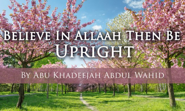 Believe in Allah then be Upright | Abu Khadeejah