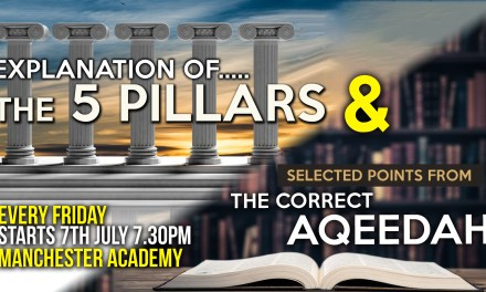 01 – EXPLANATION OF THE 6 PILLARS – ABU HUMAYD SAALIM | MANCHESTER