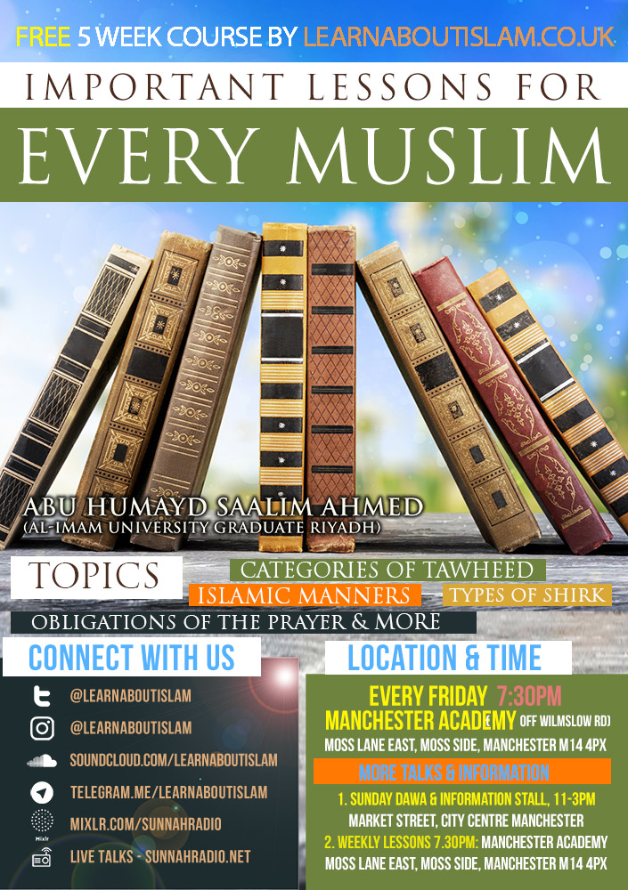 Important Lessons for Every Muslim - Categories of Tawhid | Abu Humayd Saalim | Manchester