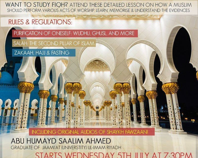 30 – Explanation of Fiqh | Abu Humayd Saalim | Manchester