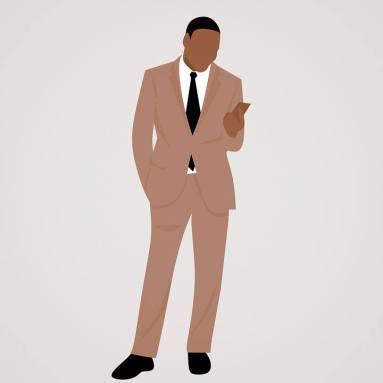 l'abito da uomo (giacca + pantaloni)