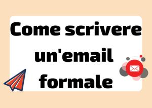 scrivere un'email in italiano
