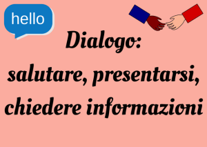 how to introduce yourself Italian