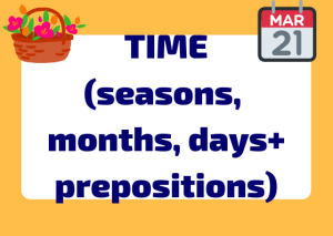prepositions with expressions of time Italian