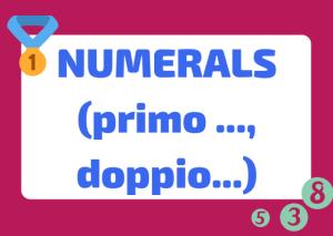 italian numerals