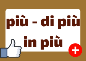how to use piu in Italian