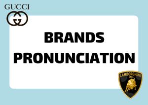 italian brands pronunciation