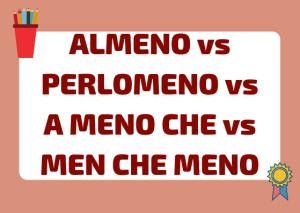 almeno vs perlomeno italiano