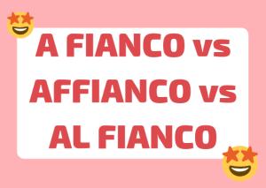 a fianco vs affianco italiano