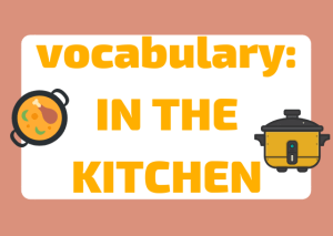 Italian vocabulary kitchen