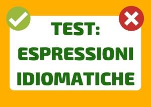 test italiano espressioni