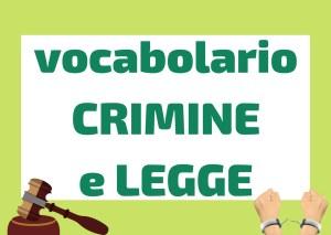 Vocabolario crimine e legge italiano
