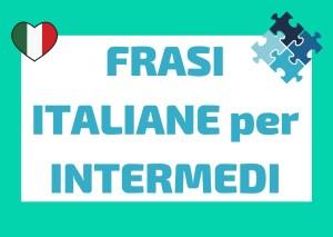 frasi italiane intermedio