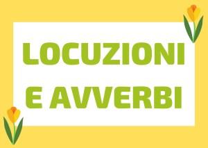 avverbi e locuzioni italiano