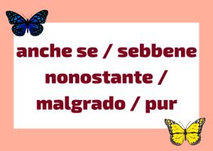 conjunción concesivas italiano
