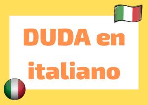 dudas lengua italiana
