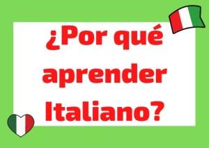 por que estudiar italiano