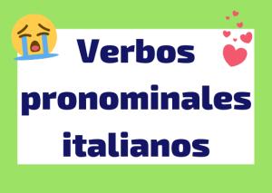 verbos pronominales italiano
