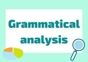 Italian grammar analysis