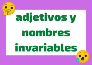 sustantivos y adjetivos invariables