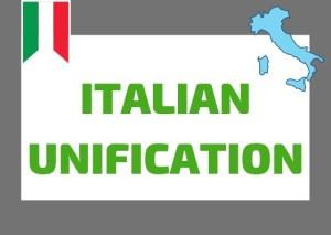 Italian unification summary