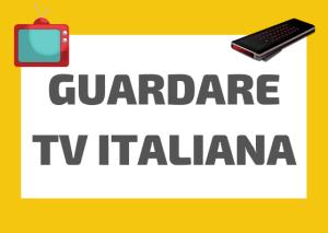 guardare televisione italiana