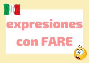 expreciones fare italiano