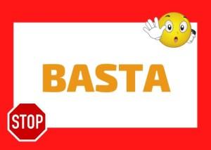 basta meaning Italian