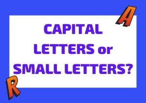 capital letters vs small letters in Italian