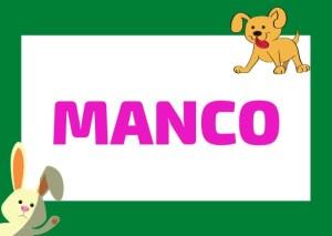 manco meaning Italian