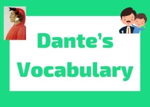 Dante's Vocabulary