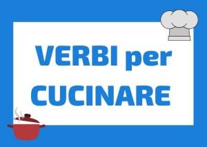 Verbi per cucinare italiano