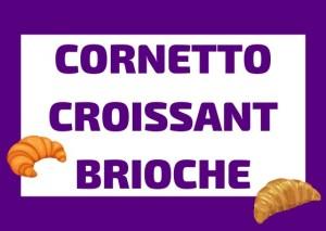 cornetto croissant y brioche