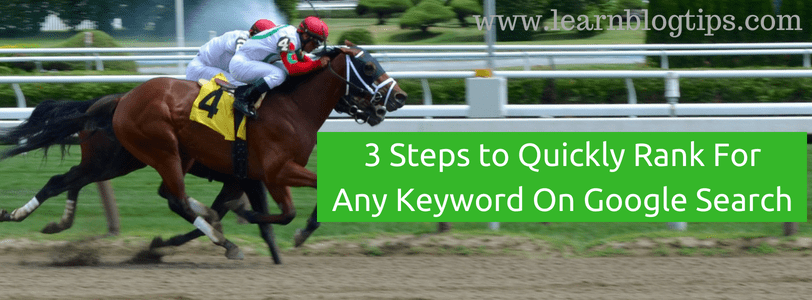 how to rank for a keyword fast