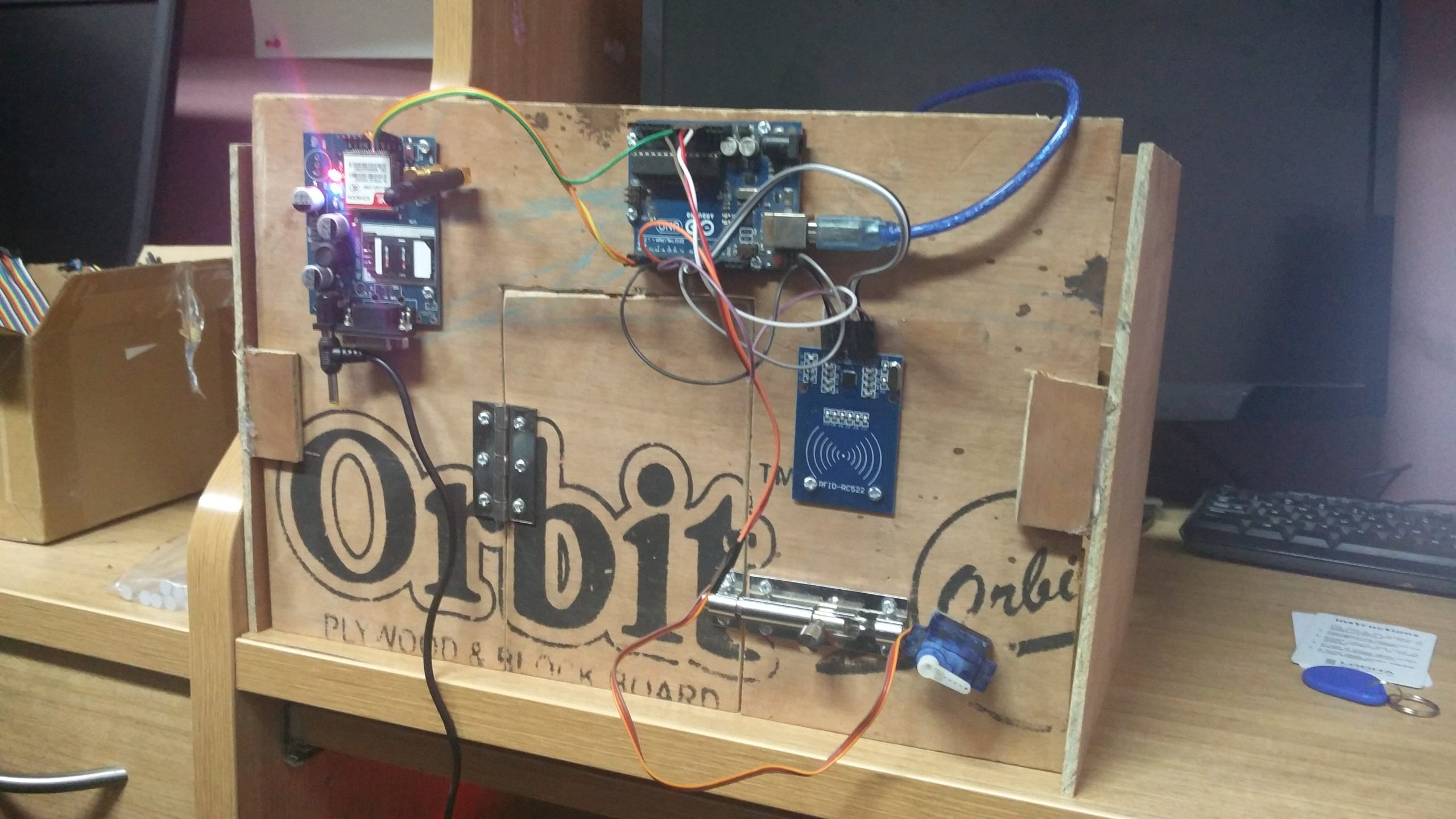 Arduino connected to House model