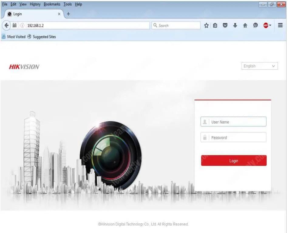 Quyền truy cập trình duyệt DVR Hikvision