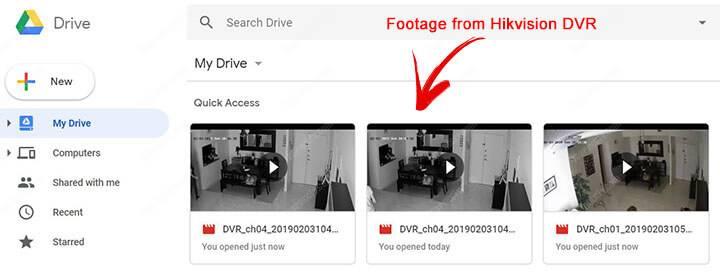 Ghi hình trên Google Drive của Hikvision DVR