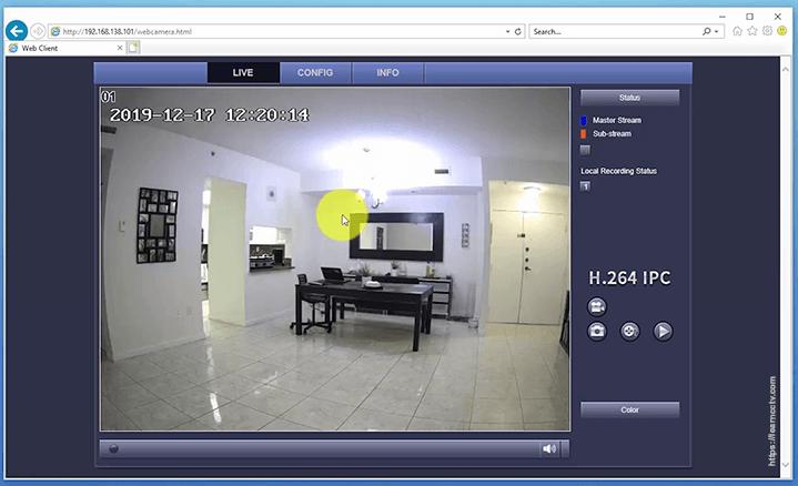 Video trực tiếp camera IP Zosi qua trình duyệt web