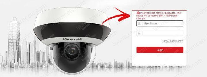 Lỗi mật khẩu camera IP Hikvision
