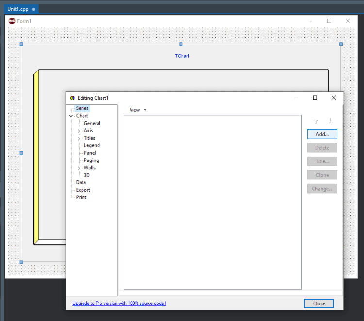 How To Make Visually Stunning Windows Charts In C++ - creating a new chart