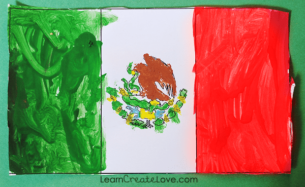 printable mexican flag amp outline of mexico