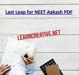 Last Leap for NEET Aakash PDF