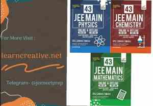 43 JEE Main ONLINE & OFFLINE Physics, Chemistry & Mathematics Topic-wise Solved Papers